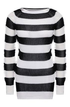 Женский хлопковый пуловер MARNI черно-белого цвета, арт. GCMD0253Q0/UFCF03 | Фото 1