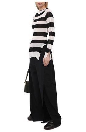 Женский хлопковый пуловер MARNI черно-белого цвета, арт. GCMD0253Q0/UFCF03 | Фото 2