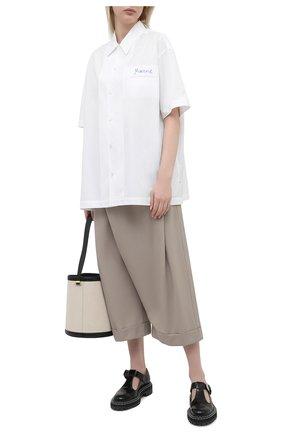 Женские шерстяные брюки MARNI бежевого цвета, арт. PAMA0199A0/TW839 | Фото 2