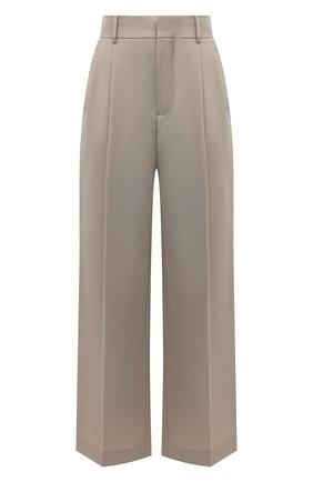 Женские шерстяные брюки MARNI бежевого цвета, арт. PAMA0248U0/TW839   Фото 1