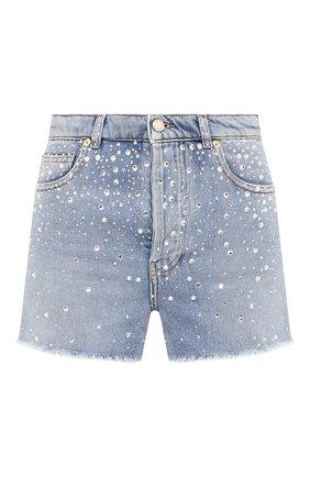Женские джинсовые шорты ALEXANDRE VAUTHIER голубого цвета, арт. 211PA1403B 1421B-211 | Фото 1 (Материал внешний: Хлопок; Длина Ж (юбки, платья, шорты): Мини; Женское Кросс-КТ: Шорты-одежда; Стили: Гранж; Кросс-КТ: Деним)