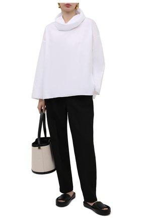 Женская хлопковая блузка THE ROW белого цвета, арт. 5644W2043 | Фото 2