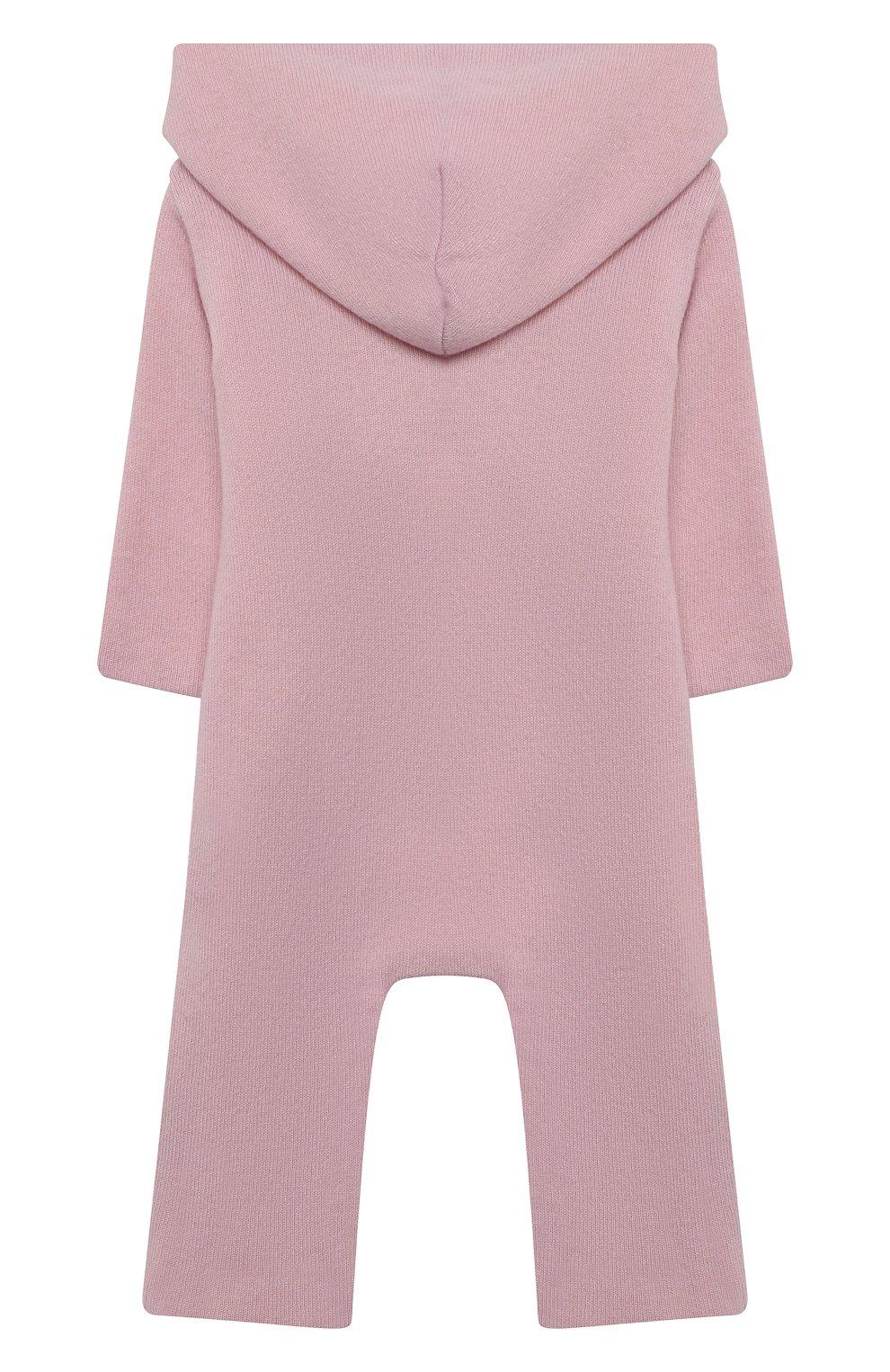 Детский кашемировый комбинезон WOOL&COTTON розового цвета, арт. KMLBR-H   Фото 2