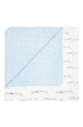 Детского хлопковое одеяло ADEN+ANAIS голубого цвета, арт. ADBC10007 | Фото 1