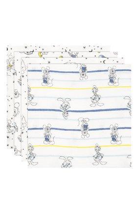 Детского комплект из четырех пеленок ADEN+ANAIS синего цвета, арт. ESWC40006DI | Фото 1