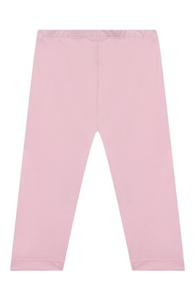 Детские хлопковые леггинсы MONNALISA розового цвета, арт. 177LEG   Фото 2