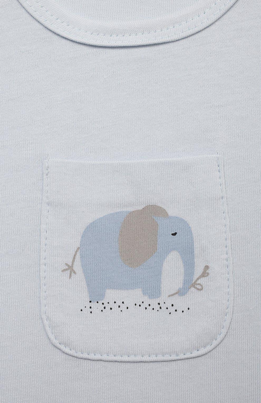 Детский комплект из комбинезона и лонгслива SANETTA голубого цвета, арт. 221634 | Фото 3
