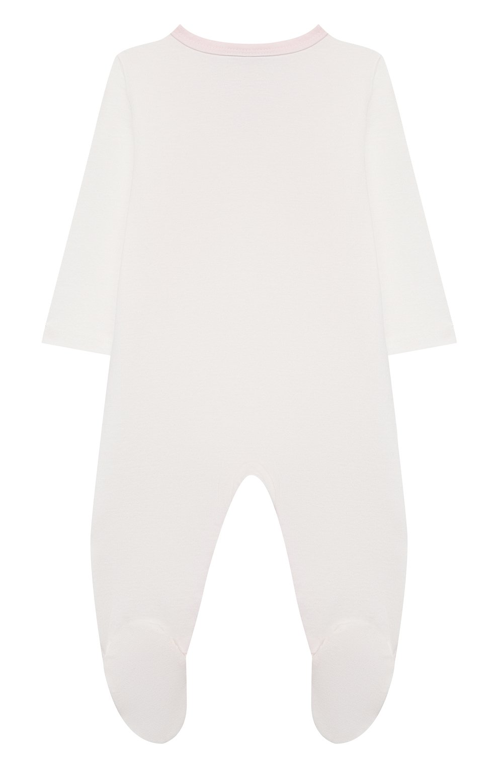 Детский хлопковый комбинезон SANETTA белого цвета, арт. 221628 | Фото 2