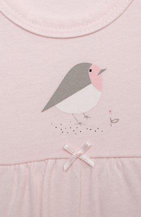 Детский комплект из комбинезона и лонгслива SANETTA светло-розового цвета, арт. 221629 | Фото 3