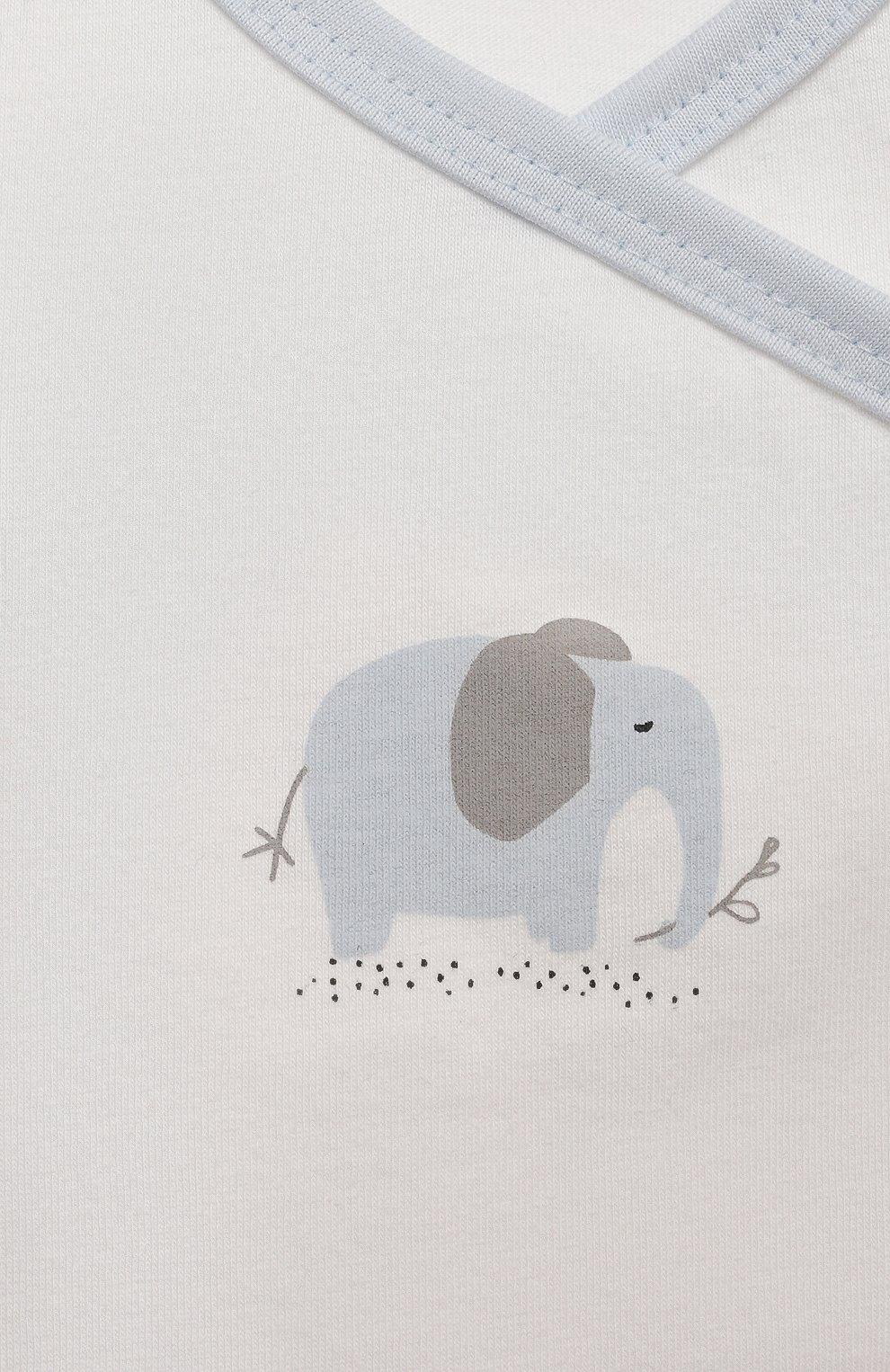 Детский хлопковый комбинезон SANETTA белого цвета, арт. 221637 | Фото 3