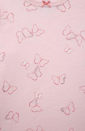 Детская хлопковая пижама SANETTA светло-розового цвета, арт. 221613 | Фото 6