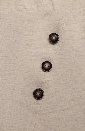 Детские хлопковые брюки SANETTA бежевого цвета, арт. 10259 | Фото 3