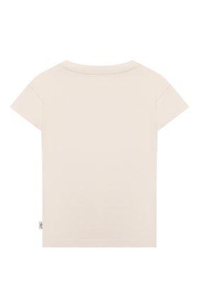 Детский хлопковая футболка SANETTA белого цвета, арт. 10250 | Фото 2