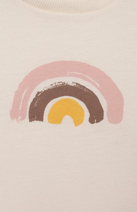 Детский хлопковая футболка SANETTA белого цвета, арт. 10250 | Фото 3