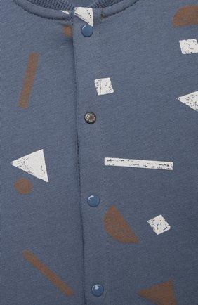 Детское хлопковый комбинезон SANETTA синего цвета, арт. 10298 | Фото 3
