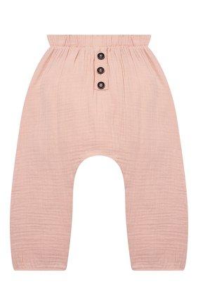 Детские хлопковые брюки SANETTA розового цвета, арт. 10260 | Фото 1