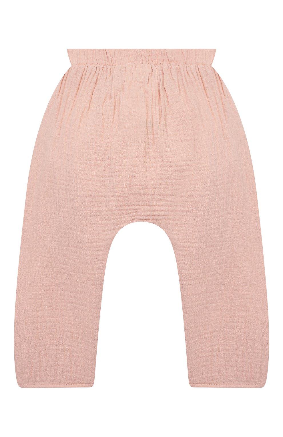 Детские хлопковые брюки SANETTA розового цвета, арт. 10260   Фото 2