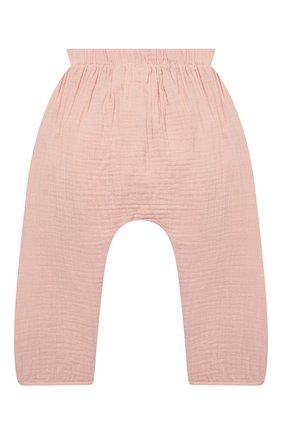 Детские хлопковые брюки SANETTA розового цвета, арт. 10260 | Фото 2
