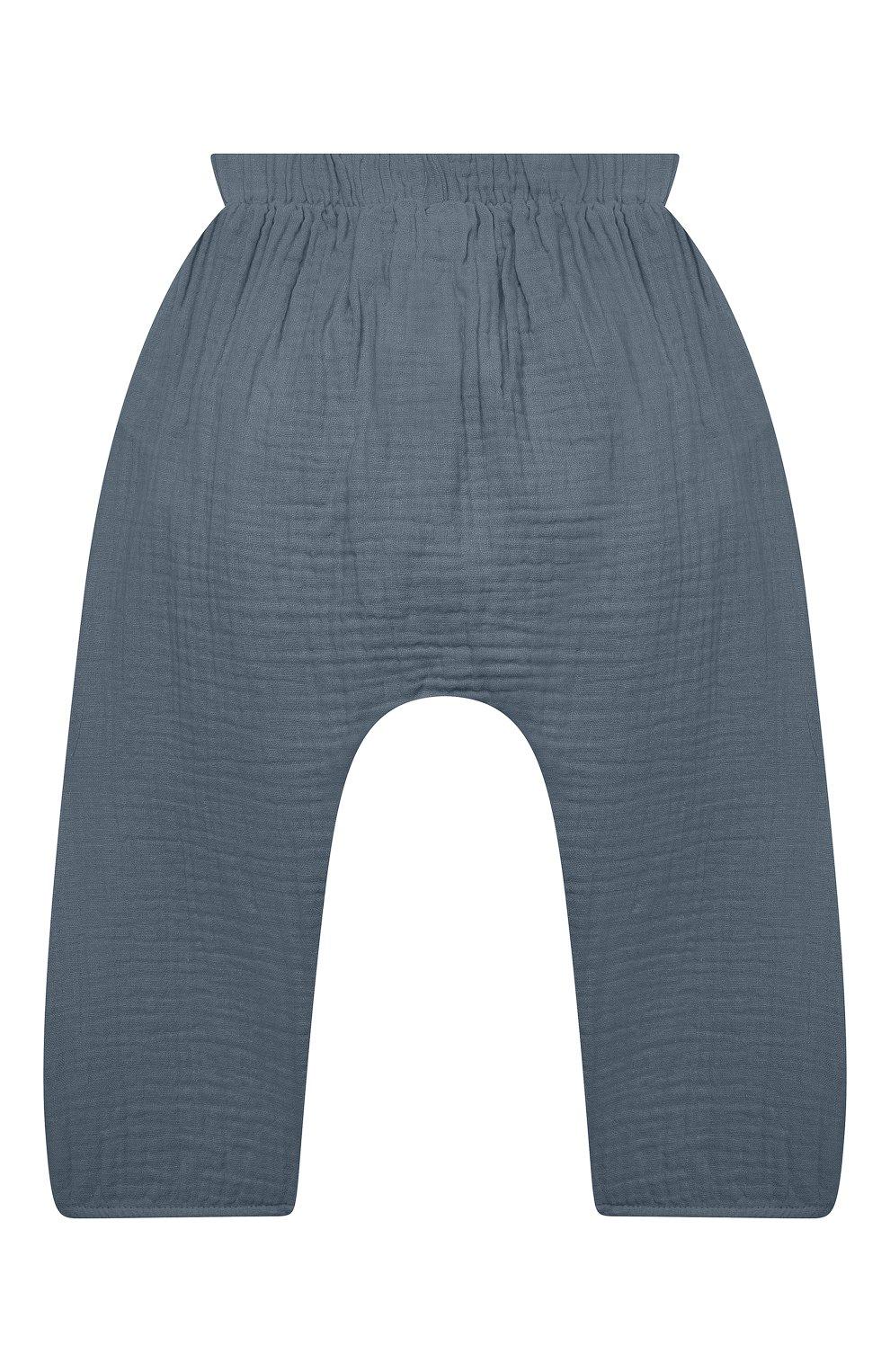 Детские хлопковые брюки SANETTA синего цвета, арт. 10260 | Фото 2