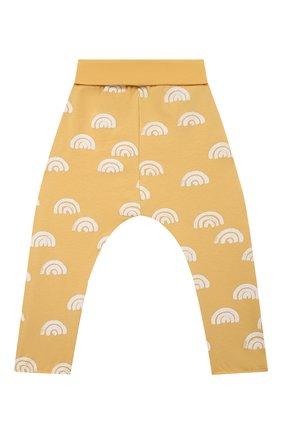Детские хлопковые брюки SANETTA желтого цвета, арт. 10258 | Фото 1