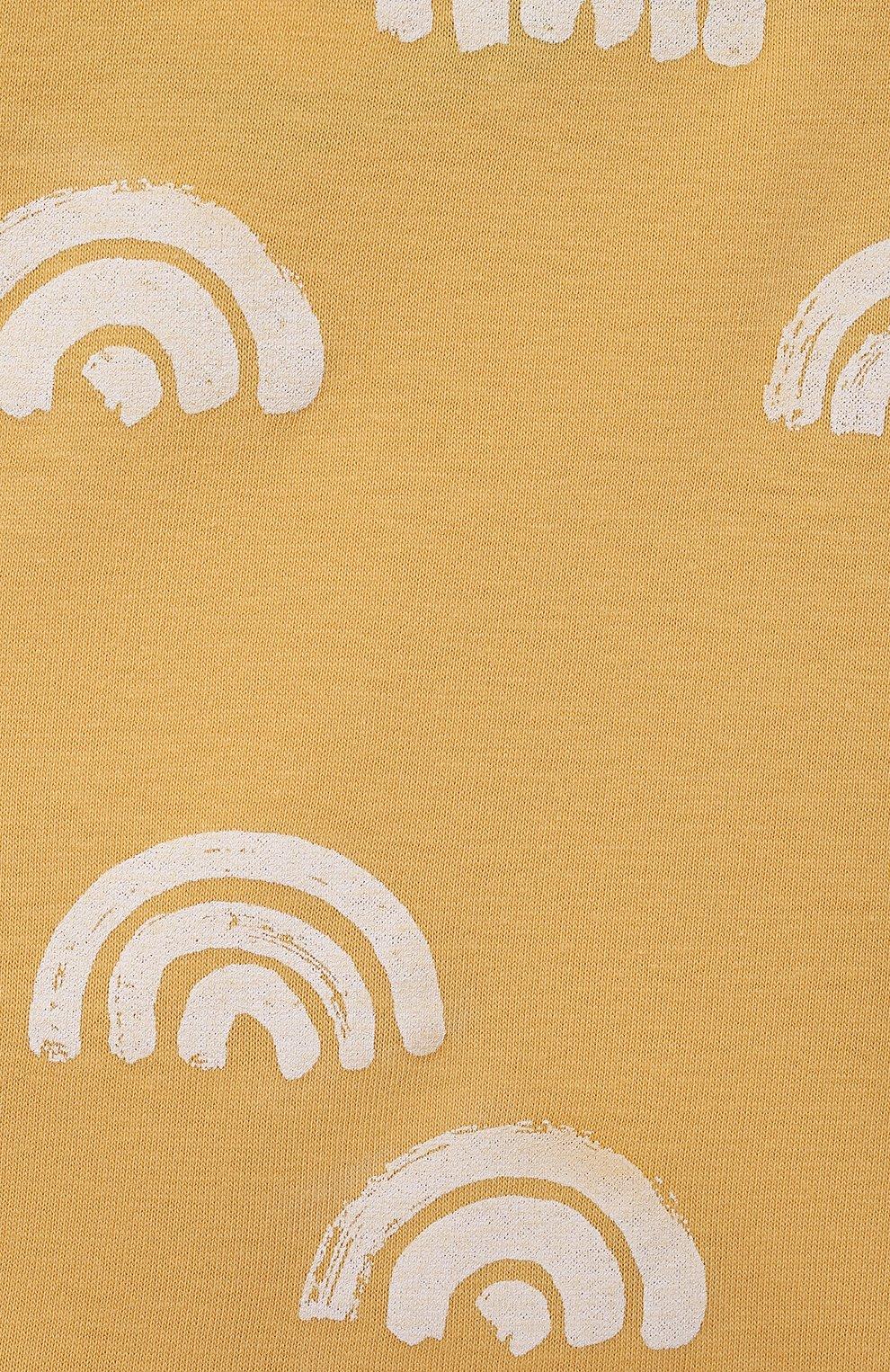Детские хлопковые брюки SANETTA желтого цвета, арт. 10258 | Фото 3