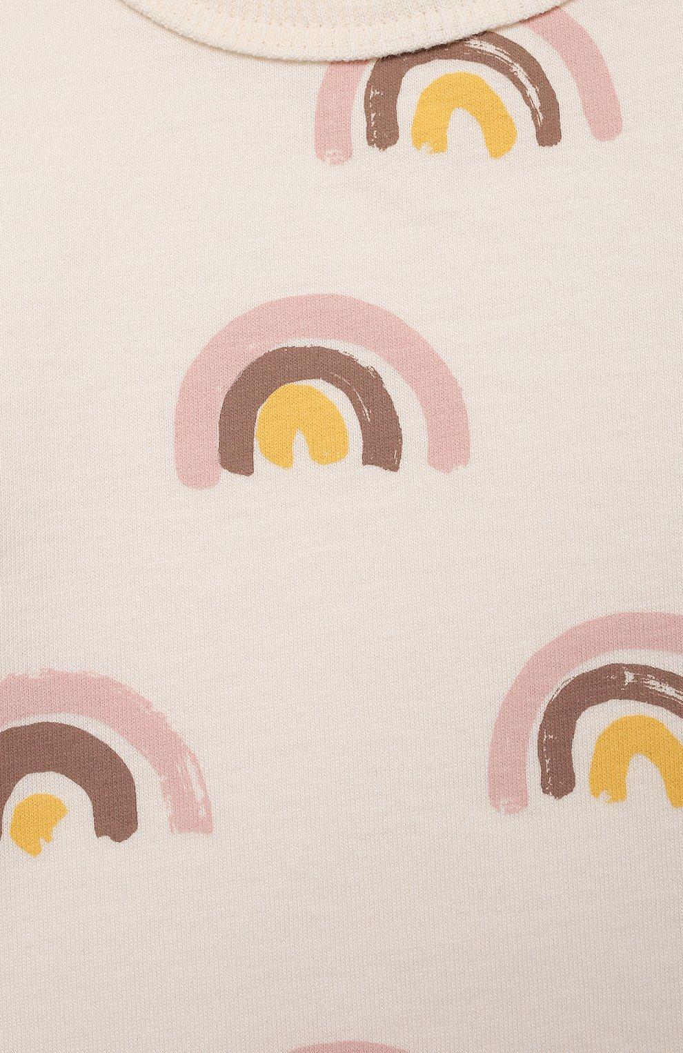 Детский хлопковая футболка SANETTA белого цвета, арт. 10314 | Фото 3