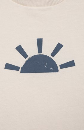 Детский хлопковая футболка SANETTA белого цвета, арт. 10294 | Фото 3