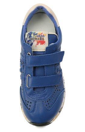 Детские кожаные кроссовки PREMIATA WILL BE синего цвета, арт. LUCY V/12-21521/CHILD   Фото 4 (Материал внутренний: Натуральная кожа)