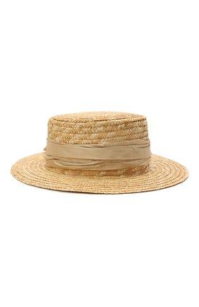 Детская шляпа DESIGNERS CAT бежевого цвета, арт. 100000K01000734/56-58 | Фото 1