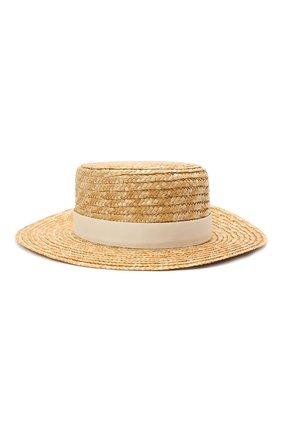 Детская шляпа DESIGNERS CAT светло-бежевого цвета, арт. 100000K01000731/56-58 | Фото 1