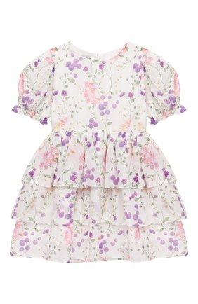 Детское хлопковое платье DESIGNERS CAT разноцветного цвета, арт. 100000K01000730/2A-3A | Фото 1