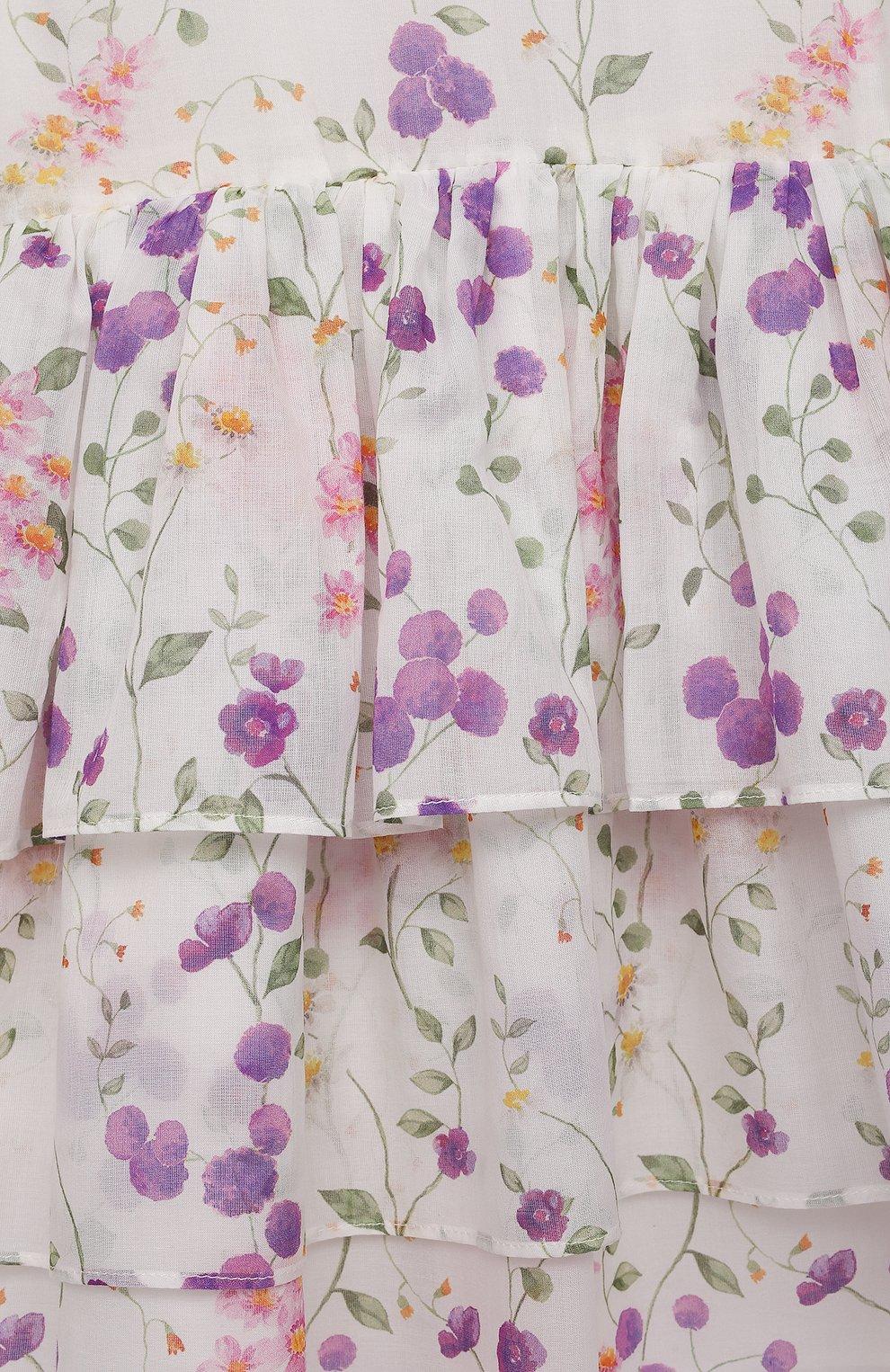 Детское хлопковое платье DESIGNERS CAT разноцветного цвета, арт. 100000K01000730/2A-3A | Фото 3 (Рукава: Короткие; Случай: Повседневный; Материал внешний: Хлопок; Девочки Кросс-КТ: Платье-одежда; Материал подклада: Хлопок; Ростовка одежда: 2 года | 92 см, 3 года | 98 см)
