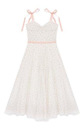 Детское платье DESIGNERS CAT белого цвета, арт. 100000K01000712/14A | Фото 1