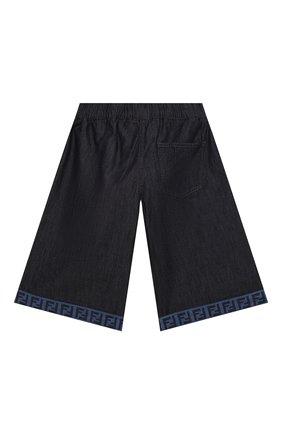 Детские джинсовые шорты FENDI темно-синего цвета, арт. JUF034/AEY4/8A-12+   Фото 2
