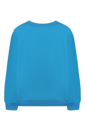 Детский хлопковый свитшот CHIARA FERRAGNI голубого цвета, арт. 21PE-CFKF060 | Фото 2
