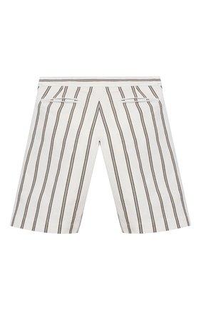 Детские хлопковые шорты BRUNELLO CUCINELLI белого цвета, арт. BH226P904A   Фото 2