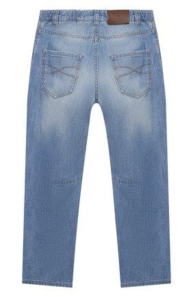 Детские джинсы BRUNELLO CUCINELLI голубого цвета, арт. BE645D300C   Фото 2