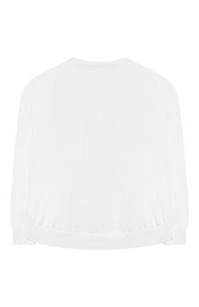 Детский хлопковый пуловер BRUNELLO CUCINELLI белого цвета, арт. B19M13500C | Фото 2