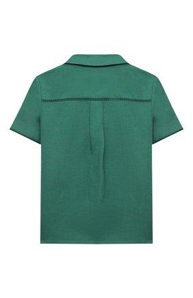 Детская льняная рубашка LORO PIANA зеленого цвета, арт. FAL5894 | Фото 2