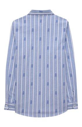 Детская хлопковая рубашка GUCCI голубого цвета, арт. 645029/XWAMX | Фото 2