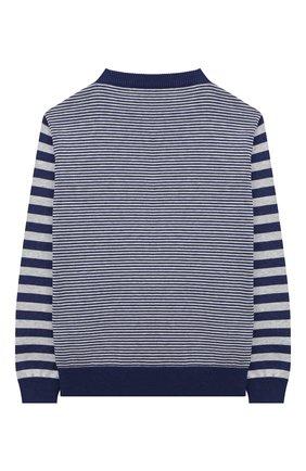 Детский пуловер из шелка и хлопка LORO PIANA синего цвета, арт. FAL5913 | Фото 2