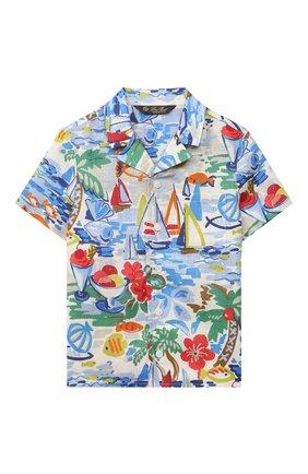 Детская льняная рубашка LORO PIANA разноцветного цвета, арт. FAL5908 | Фото 1