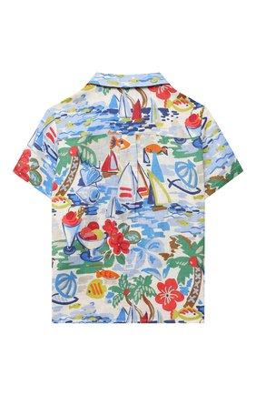 Детская льняная рубашка LORO PIANA разноцветного цвета, арт. FAL5908 | Фото 2