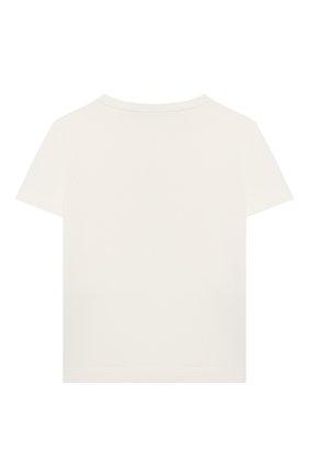 Детская хлопковая футболка LORO PIANA белого цвета, арт. FAL5119 | Фото 2