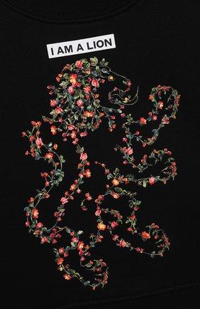 Детский хлопковый свитшот BURBERRY черного цвета, арт. 8038461 | Фото 3