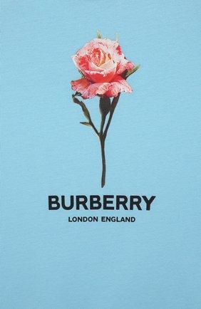Детское комплект из трех предметов BURBERRY голубого цвета, арт. 8038381   Фото 9