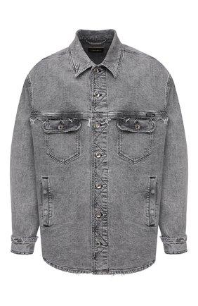 Мужская джинсовая куртка DOLCE & GABBANA светло-серого цвета, арт. G9UG2D/G8DM2 | Фото 1