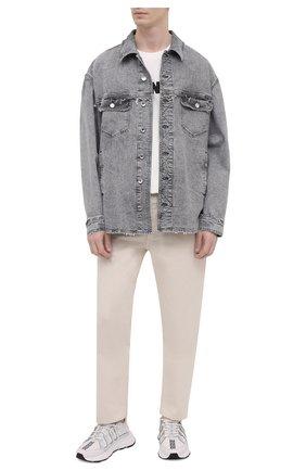 Мужская джинсовая куртка DOLCE & GABBANA светло-серого цвета, арт. G9UG2D/G8DM2 | Фото 2