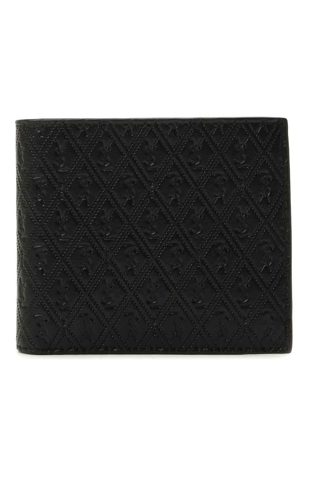 Мужской кожаное портмоне SAINT LAURENT черного цвета, арт. 647151/18G1Z | Фото 1