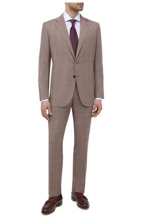 Мужской шерстяной костюм ZILLI коричневого цвета, арт. MMV-P1241Z1-10113/0001 | Фото 1